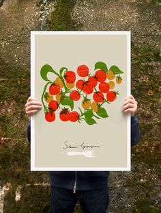 "Cherry Tomatoes Poster print  20""x27"" - archival fine art giclée print. $85.00, via Etsy."