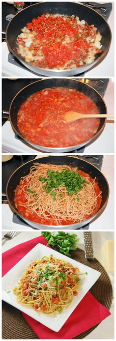 Spicy Tomato Bacon Spaghetti