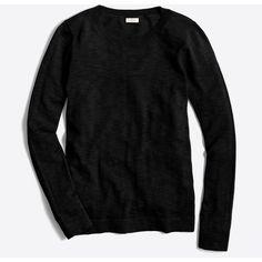J.Crew Teddie sweater ($30) ❤ liked on Polyvore featuring tops, sweaters, j crew tops, long sleeve sweater, j crew sweaters, cotton sweaters and long sleeve tops