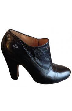 Martin #Margiela Low Boots Talon Cuir verni noir 37 #kollas