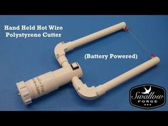 How to make a Hand Held Hot Wire foam - Polystyrene Cutter -Battery Powered Styro slicer - YouTube