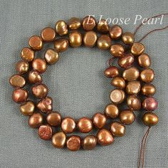 Baroque Pebble Potato Copper Color Freshwater Pearl by LoosePearl