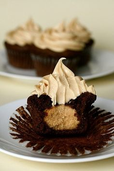 Chocolate peanut butter cupcakes from Annie's Eats.