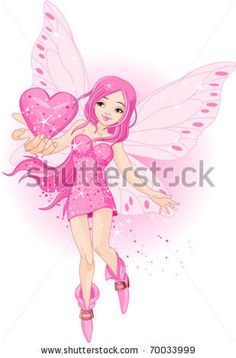 beautiful love fairy holding heart