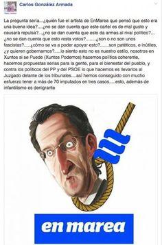 El nº 2 del PP de Galicia afirma que la caricatura de Feijóo ahorcado es inadmisible en democracia