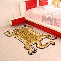 100X160 CM Afrikaanse Tiger Gebied Tapijt Voor Kinderen Slaapkamer Thuis Hal…