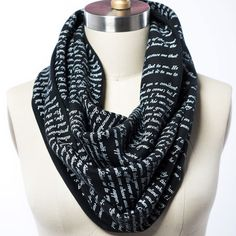 Wrap up with a good Book Scarf! Join Jonathan Harker as he comes face-to-face with the gothic terror of Count Dracula with this infinity scarf lovingly screen-printed with an excerpt straight out of B