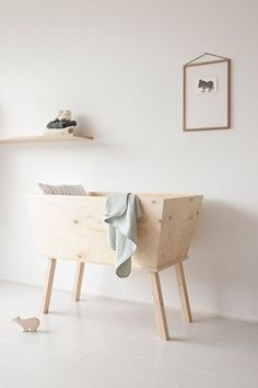 Little wood bassinet #baby