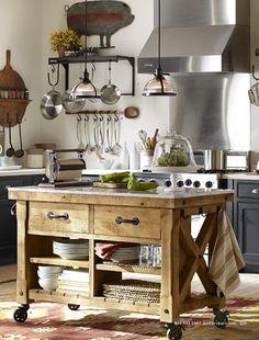 white kitchen/pottery barn