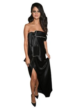 Selena Gomez Black Dress Selena Gomez Black Dress, Dress Png, Red Apple, Strapless Dress, Singer, Actresses, Celebrities, Star, Music
