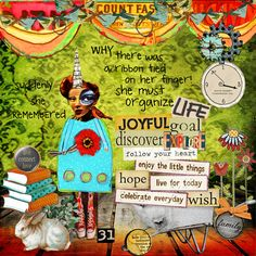 the things I want to organize in life via Art Journal Caravan prompt-