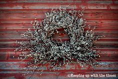 Pussy Willow Wreath.