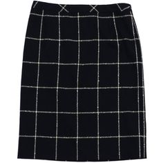 Pre-owned Escada Black & White Tile Wool Pencil Skirt ($129) ❤ liked on Polyvore featuring skirts, escada, pencil skirt, escada skirt, black white pencil skirt and knee length pencil skirt