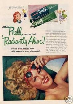 New Prell Leaves Hair 'Radiantly Alive' - Good Housekeeping - 1952 - vintageads Retro Advertising, Vintage Advertisements, Vintage Ads, Vintage Posters, Vintage Items, Prell Shampoo, Procter And Gamble, Beauty Ad, Healthy Food Delivery