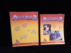 Abeka Algebra 2 Student & Solution Key VG, Homeschool or School  #TextbookBundleKit