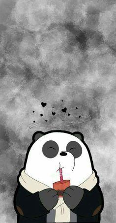 Iphone Wallpaper Cat, Cute Panda Wallpaper, Cute Tumblr Wallpaper, Bear Wallpaper, Cute Disney Wallpaper, Kawaii Wallpaper, We Bare Bears Wallpapers, Panda Wallpapers, Cute Cartoon Wallpapers