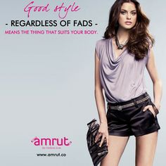 Good style - regardless of fads - means the thing that suits your body. -Natalie Dormer - www.amrut.co ‪#FashionIcon‬ ‪#Amrut‬ ‬ ‪#ElegantLook‬