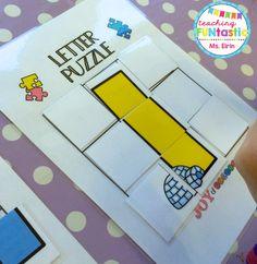 PY 1 - Uke 2: Vi legger bokstavpuslespill som en del ava stasjonsarbeid! Det er vanskeligere enn det ser ut til... :) Bullet Journal, Teaching, Lettering, First Grade, Drawing Letters, Education, Onderwijs, Learning, Brush Lettering