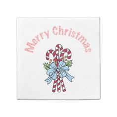Christmas Candy Canes Paper Napkins by Janz