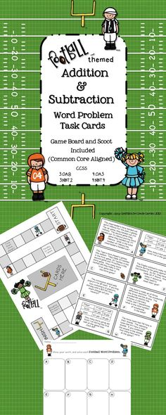 This is a great activity if your students need practice with assessment level multi-step problems.  There are 24 addition and subtraction word problems, game board, scoot work space and keys.  $