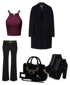 """Tuesday meeting"" by madisonkiss on Polyvore featuring Gucci, MSGM, SpyLoveBuy and Balenciaga"