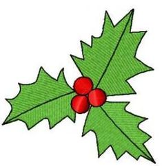 Christmas leaves free embroidery design. Machine embroidery design. www.embroideres.com