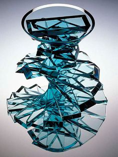 Sidney Hutter, Glass Artist - Twisted Abstracted Vase #5