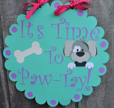 Dog Birthday Party Welcome Sign Puppy Party by CraftedOccasions