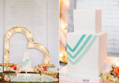 """Dessert Table with Love Letters & the Couples vows as the backdrop 