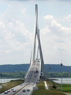 France - Honfleur-Le Havre - Pont de Normandie. Stuart will love this bridge.