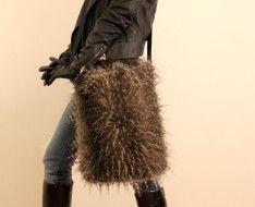 STERNENTAU #handmade #bags  #fake #fur #shopper Fur Bag, Fake Fur, Handmade Bags, Austria, Handmade Purses, Homemade Bags