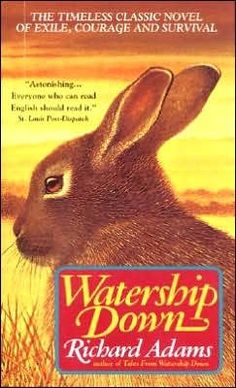 "The library's new high school intern is joining us on GoodReads with her 5 star favorite, Watership Down. Spencer says ""I really enjoyed Watership Down because it causes you to think, and have a variety of emotions. This Is A Book, Up Book, I Love Books, Great Books, Books To Read, Amazing Books, It's Amazing, Watership Down Book, Richard And Adam"