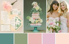 Dreaming of a garden party wedding? We have paired gorgeous soft greens with pretty peachy-pink tones to create a summer wedding look to dream of