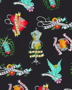 Born to Sew - Sewing Traditional Tattoos - Quilt Fabrics from www.eQuilter.com