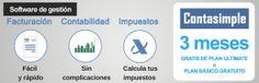 Software de gestión (facturación, contabilidad e impuestos) con Contasimple - 3 meses gratis de plan Ultimate o plan Básico gratuito