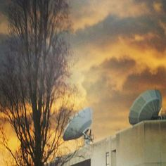 Orange sky  Rome february 2014