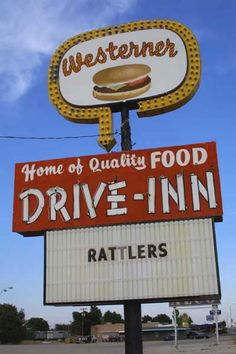 Westerner Drive-Inn, Tucumcari NM. Rattlers. Route 66