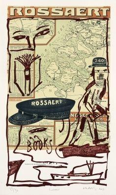 Lithographie - Pierre Alechinsky - Rossaert