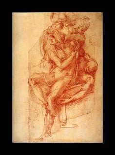 Study of Sistine Chapel, Michel Angelus Buonarotus Michelangelo, Figure Drawing, Line Drawing, Raising Of Lazarus, Sistine Chapel, Chalk Drawings, Miguel Angel, Caravaggio, Renaissance Art