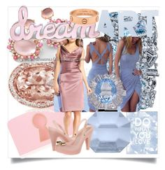 """""""Sometimes all you Need is Pink & Blue"""" by cristine-rosa on Polyvore featuring Pottery Barn, Charlotte Olympia, Robert Procop, Ross-Simons, Rauwolf, Brumani, STELLA McCARTNEY, Melissa, Cartier and women's clothing"""
