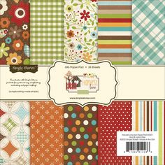 @Overstock.com - Simple Stories Paper Pad 6X6-Harvest Lane - SIMPLE STORIES-Paper Pad. This package contains one paper pad with thirty-six 6x6 inch single-sided scrapbooking papers (two each of eighteen designs). Acid and Lignin Free. Available in a variety of designs