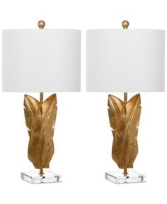 Safavieh Set of 2 Aerin Wings Table Lamps - Gold