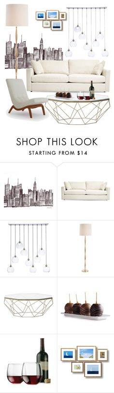 """""""Home Decor"""" by seemraaa on Polyvore featuring interior, interiors, interior design, home, home decor, interior decorating, CB2, Arteriors, Libbey and Joybird Furniture"""