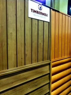 timbermill siding used to create a trade show booth