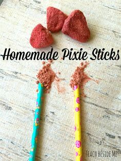 3 Ingredient Homemade Pixie Sticks with Real Fruit! - Teach Beside Me Creative Arts And Crafts, Fun Crafts, Crafts For Kids, Fun Activities For Kids, Activity Ideas, Learning Activities, Creative Teaching, Cooking With Kids, Fun Desserts