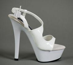 Sandale von Pleaser in weiß Extreme unschuldig - oder?