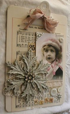 clipboard art.........love this concept....looks easy with all the goodies laying around my studio!