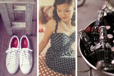 This Vintage-Diner-themed moodboard lets you relive the in style. Vintage Diner, Get The Look, Mood Boards, Style Inspiration, Tote Bag, Bags, Fashion, Purses, Moda
