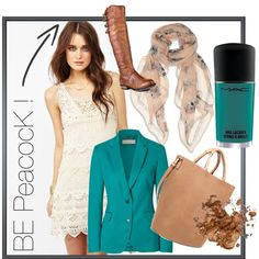 Peacock day time..., created by veejayone on Polyvore
