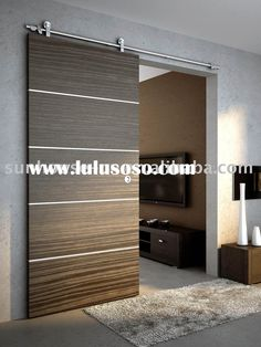 Barn doors today are becoming part of interior decoration in many houses because they are stylish. When building a barn door on your own, barn door hardware kit Wooden Sliding Doors, Wood Doors, Interior Barn Doors, Interior And Exterior, Interior Design, Door Design, House Design, The Doors, Front Doors